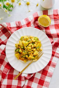 Ready for another chickpea recipe? I sure hope so, because today I am here to inspire you with acurrylicious spin on potato salad! Addingchickpeas to potato salad seems a natural fit to me. You may already be familiar with this Creamy Potato + Chickpea Salad. It's a combination thatworks well together. The chickpeasblend in beautifully...Read More »
