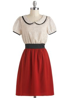 Cherry Jubilee Dress. As soon as you laid eyes on this red-and-white dress, you simply couldnt resist. #gold #prom #modcloth