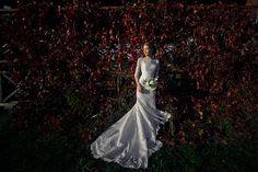 ростовой портрет невесты в локации прогулки