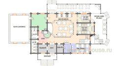 Проект R-340 Ресторан на 168мест деревянного дома :: Готовые проекты домов :: Интернет-магазин bl-house.ru