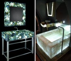 Illuminated Semi-Precious Gemstone Countertops