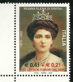 2002 | 0,41 € + 0,21 € - Ritratto della regina Elena di Savoia | NUOVO