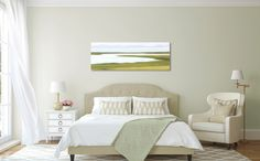 Large Abstract Wall Art Coastal Decor Nantucket Photograph Canvas Marsh Beach Artwork Lime Green Yellow Olive Sage White Living Room Bedroom by klgphoto on Etsy https://www.etsy.com/listing/203473689/large-abstract-wall-art-coastal-decor