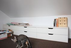 Stolmen dressers from ikea - perfect for slanted ceilings