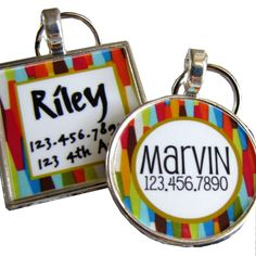 Lots of cute dog tags from this shop.
