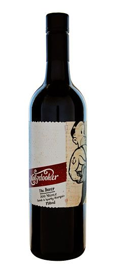 Mollydooker the boxer - powerful & heavy shiraz from Australia. Has a concentrated and spicy palate.