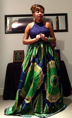 Versatile Maxi Skirt by AfroPieces on Etsy ~African fashion, Ankara, kitenge, African women dresses, African prints, Braids, Nigerian wedding, Ghanaian fashion, African wedding ~DKK