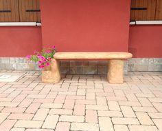 Pozzi Decorativi Da Giardino : Panchina da esterno modello roccia colore antichizzato
