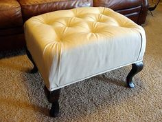 how to redo an ottoman - specific instructions