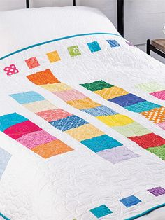 This is the perfect quilt to feature your favorite precut squares. Just imagine all the different looks you can accomplish with precuts and a background fabric. Finished size is x 55 Previously published in Quilter's World Spring 2019 Charm Pack Quilt Patterns, Lap Quilt Patterns, Beginner Quilt Patterns, Quilting For Beginners, Pinwheel Quilt Pattern, Charm Quilt, Country Quilts, Quilting Designs, Quilting Ideas