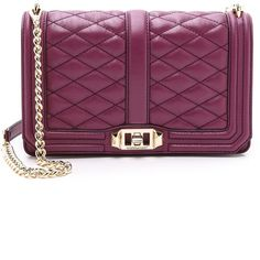 Rebecca Minkoff Love Cross Body Bag ($295) ❤ liked on Polyvore featuring bags, handbags, shoulder bags, purses, plum, crossbody shoulder bags, leather purse, rebecca minkoff crossbody, rebecca minkoff handbags and leather crossbody purse