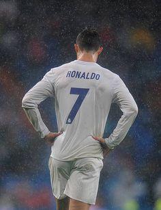 Cristiano Ronaldo of Real Madrid looks on during the La Liga match...