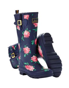 Joules Women's Printed Wellies, French Navy Peony.                     From striking stripes and detailed florals to scenes that sing of our country heritage. No matter where you are from farmyards to festivals, our new printed wellies will make sure you stand out from the crowd.