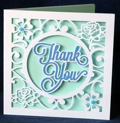 Floral Cut Out Thank You Card