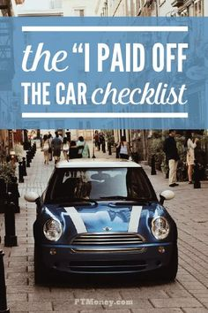 Have you paid off your car loan? Are you ready to celebrate?! Here are some of PT's ideas for how you can celebrate and start using that extra money for other things. http://ptmoney.com/what-to-do-when-you-pay-off-the-car-loan/