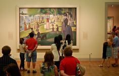 Georges Seurat (French, A Sunday on La Grande Jatte -- Georges Seurat, Seurat Paintings, Cool Photos, Interesting Photos, Art Day, Transgender, Impressionism, Fun Activities, Art Museum