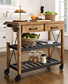 Exellent Kitchen Island Trolley Ideas For 2017 Intended Decorating
