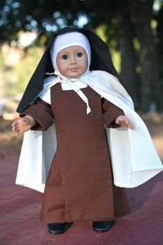 Carmelite Nun Habit 18 Catholic Doll Clothes by TheLittleHabit