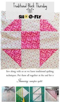 Penny Rose Fabrics Blog: Traditional Block Thursday: Shoo-Fly