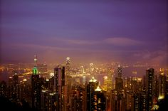 Hong Kong by night from The Peak. http://www.thewanderinglens.com/postcards-from-hong-kong-a-photo-diary/