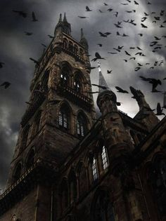 """Raven Spires, Glasgow, Scotland """"Is that Edinburgh Castle? I'm from Glasgow! Art Zombie, Haunted Images, Glasgow Scotland, Scotland Travel, Scotland Uk, Edinburgh, Gothic Architecture, Gothic Buildings, Abandoned Places"""