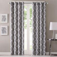 Madison Park Westmont Curtain Panel (50x95-Grey), Grey, Size 50 x 95