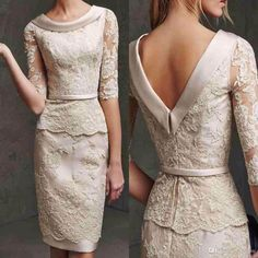 2015 Elegant Lace Mother Of The Bride Dress Sheath Half Sleeve Scoop Plus Size Women Party Dresses Cheap Short Formal Gowns J819 Wedding Mother Of The Groom Dresses Best Mother Of The Bride Dress From Baosu, $111.0| Dhgate.Com