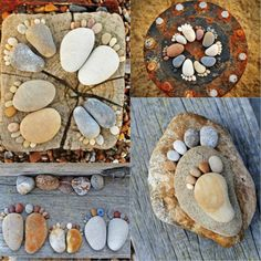 Cute yard art-great way to have family foot prints shown off in your yard....perhaps in a cement path????