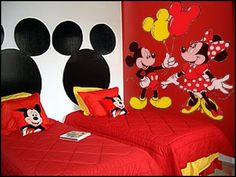 minnie and mickey room ideas | mickey+mouse+minnie+mouse+theme+bedrooms-mickey+mouse+minnie+mouse ...
