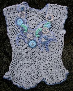 Free Form Crochet Top - MarianneS, via Flickr