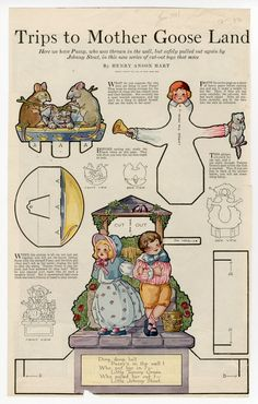 76.3596: Trips to Mother Goose Land: Ding,Dong Bell | paper toy | Play Sets | Toys | Online Collections | The Strong