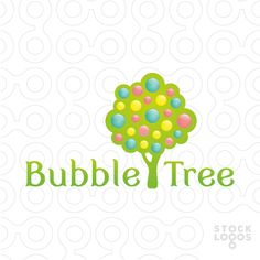 A colourful logo which shows a tree with plenty of bubbles at the tree cap. It would suit nicely for kids' photographer, or for kindergarten / preschool