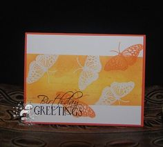 """Butterfly Birthday Greetings from """"patgarvin"""" at splitcoaststampers"""