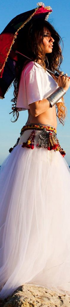 I could totally see this as wedding attire for that laid back awesome Hippie Bride :)