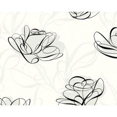 Ribbons White / Grey / Black Wallpaper by AS Creation 1319-42