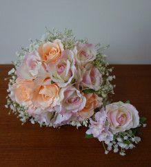 ふんわり優しいバラとかすみ草のブーケ♡ |Ordermade Wedding Flower Item MY FLOWER ♪ まゆこのブログ