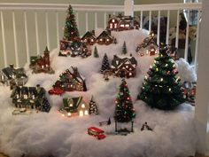The 2013 Snow Village at Pepper Tree Cottage.