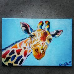 Giraffe Oil Painting Giraffe Painting, Moose Art, Composition, Paintings, Inspiration, Collection, Animaux, Biblical Inspiration, Paint