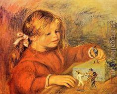Claude Renoir Playing by Pierre Auguste Renoir