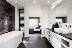 A master bedroom ensuite with free standing bath, dreamy!