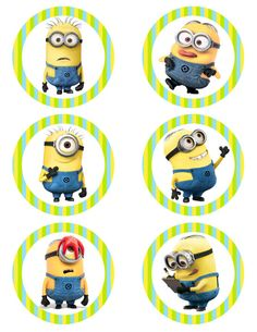 Despicable Me Minions Printable Party 3 Circle by CuteChicDesigns, £2.20