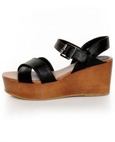 Bonnibel Elmo Black Platform Wedge Sandals #lovelulus