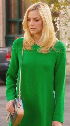 Lemon's green long sleeve shift dress on Hart of Dixie.  Outfit Details: http://wornontv.net/29156/ #HartofDixie