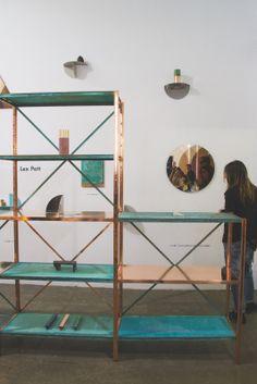 'true colours' shelves by lex pott // venture lambrate // milan design week 2013 #pastel #color #copper