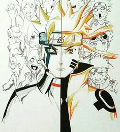 Boruto and Naruto with Sennin Mode Anime Naruto, Manga Anime, Naruto Fan Art, Naruto Shippuden Sasuke, Naruto And Sasuke, Itachi Uchiha, Naruto Tattoo, Anime Tattoos, Fanart