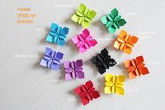 100 tangerine orange wedding petals . origami by myCrazyHands