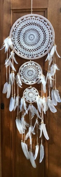 Triple dreamcatcher boho dreamcatcher wedding dreamcatcher | Etsy
