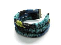 Fabric Cuff Bracelet Textile Bracelet Arm Candy by PoePoePurses #bracelets