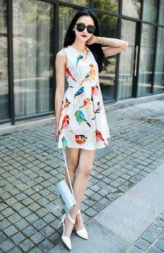 Wild Minidresses. Shot in London for Shalex, via Lookbook