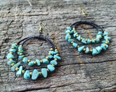 Woodland Cotton yarn crochet necklace stones von GiadaCortellini